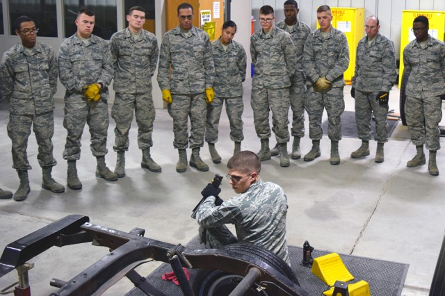 Vehicle operators put Air Force transportation mission into gear