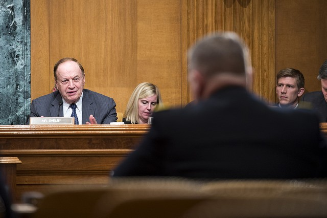 Sen. Richard Shelby (R-Ala.), questions U.S. Army Chief of Staff, Gen. Mark A. Milley, on Capitol Hill at a Senate Appropriations Committee (SAC-D) budget hearing, Washington, D.C., Feb. 24, 2016. Milley said during the testimony that in his professional military view, future contingencies would likely require a significant commitment of Army forces. (U.S. Army photograph by Staff Sgt. Chuck Burden /released