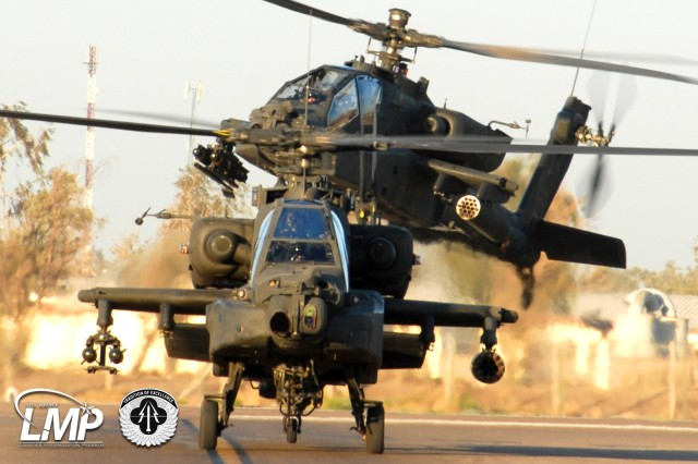 Live since 2009, Aviation and Missile Command (AMCOM) Item Managers and Depot Production Planners use the Logistics Modernization Program (LMP) to coordinate the planning, delivery, and return of critical spare and repair parts needed to sustain Army aircraft, including the UH-60 Black Hawk and the AH-64 Apache (shown) helicopters. By helping fulfill the sustainment needs of forward-deployed tactical and aviation military units worldwide, the LMP and AMCOM help ensure a high readiness posture for the U.S. Army and Soldiers.