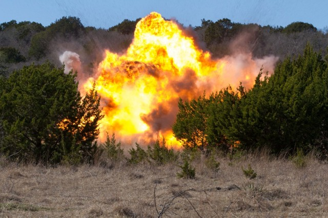 722nd detonates explosives of simulated chemical weapons