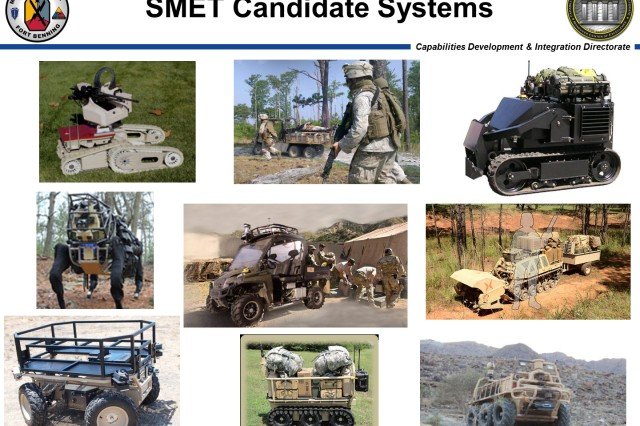 Possible prototypes for the Squad Maneuver Equipment Transport or SMET.