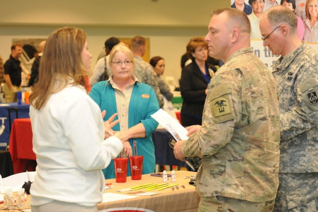 Community members take part in a Soldier For Life — Transition Assistance Program Hiring Fair in 2015. The latest fair has been scheduled from 11 a.m. to 2 p.m. March 10 at Truman Education Center.