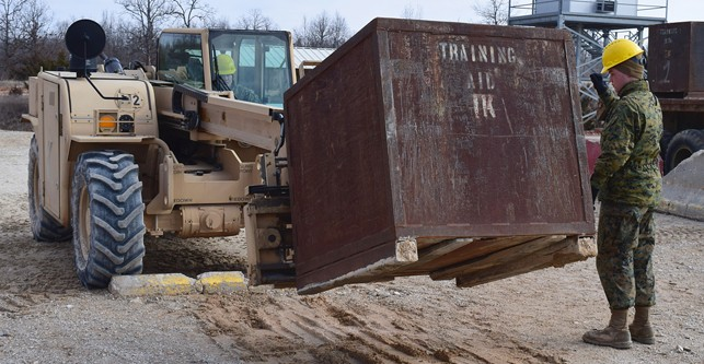 Not all about moving dirt in Marines engineer equipment operator