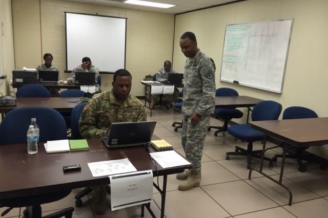 Soldiers from the 612th and 613th Contracting Teams conducted a mission readiness exercise recently at Fort Hood, Texas. The Soldiers were using the exercise to prepare for their roles in Operational Contract Support Joint Exercise-2016. The exercise's purpose was to prepare and expose the contracting teams to a contingency environment. The MRX included situational training in contracting officer representatives, unauthorized commitments, ratifications and protests.