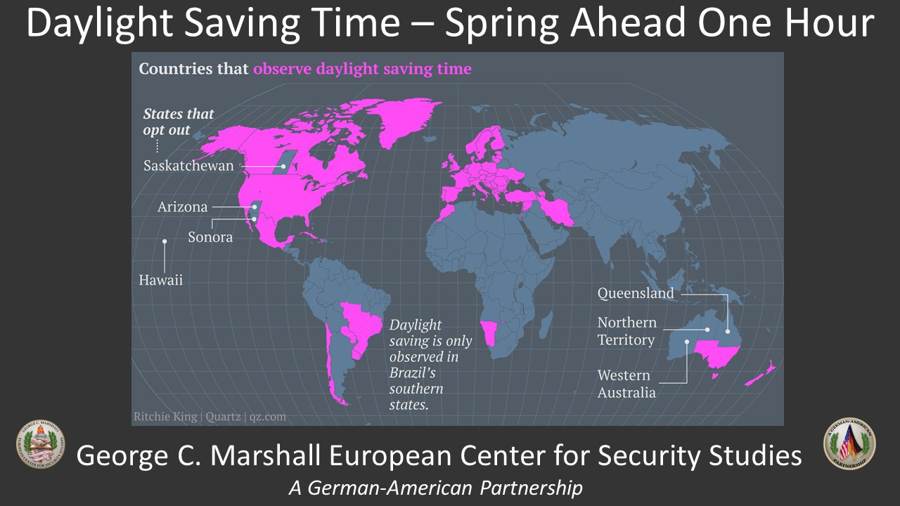 Spring Forward Touches Marshall Center Worldwide Article The - Map of us time zones during daylight savings