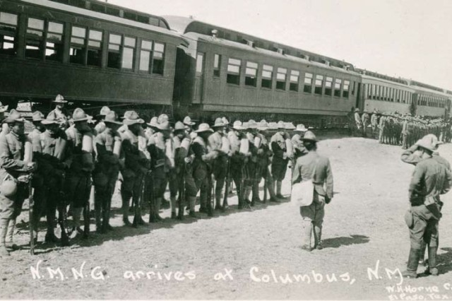After the disastrous raid on Columbus, New Mexico, by Pancho Villa, the state National Guard sent troops.