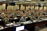 "FORT BRAGG, N.C. (Mar. 8, 2016) - Senior Commanders and Command Sergeants Major from U.S. Army Forces Command, U.S. Army Training and Doctrine Command, Army Installation Management Command, the Army National Guard and Army Reserve met March 8 at Fort Bragg, N.C., for an remarkable symposium to collaborate and synchronize key Army initiatives and critical topics affecting Soldiers and Families, and ""Shaping The Future Force."" Photo illustration by Bob Harrison, FORSCOM Public Affairs"