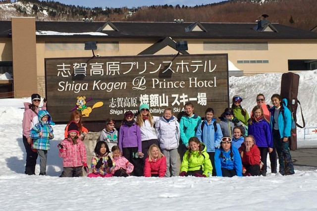Eighteen girls from Camp Zama participated in a fitness challenge March 5 and 6 at the slopes of Shiga Kogen, Nagano- it was a weekend full of first ski and snowboard experiences for many of the girls attending.  (U.S. Army photo by Donna Araghi)