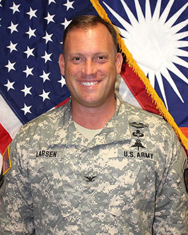 Col. Mike Larsen, Commander, U.S. Army Garrison Kwajalein Atoll
