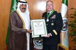 "Program Manager of the Saudi Arabian National Guard Modernization Program Brig. Gen. Paul Laughlin (right) was awarded the King Abdulaziz Medal, Saudi Arabia's highest award for foreign military servicemen March 15. The medal was presented in Riyadh by His Royal Highness Prince Miteb bin Abdullah, the minister of the Saudi Arabian National Guard, on behalf of King Salman bin Abdulaziz. The medal demonstrates the great esteem the Kingdom of Saudi Arabia has for the Office of the Program Manager-Saudi Arabian National Guard (OPM-SANG). Laughlin said he was humbled by the recognition and gave credit for the recognition to the OPM-SANG workforce. ""I very much appreciate his Royal Highness for allowing our colonels and senior civilians to be present, as they do the real work and this award is a reflection of their efforts,"" Laughlin said. OPM-SANG advises, assists, trains and manages the foreign military sales investment in the Kingdom of Saudi Arabia's National Guard modernization effort. OPM-SANG is a subordinate organization of the U.S. Army Security Assistance Command."