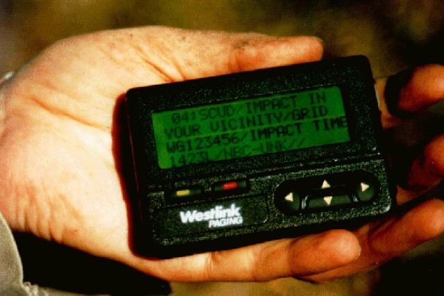 The Army's Integrated Pager Alert Warning System or I-PAWS dates back to the early 1990s.