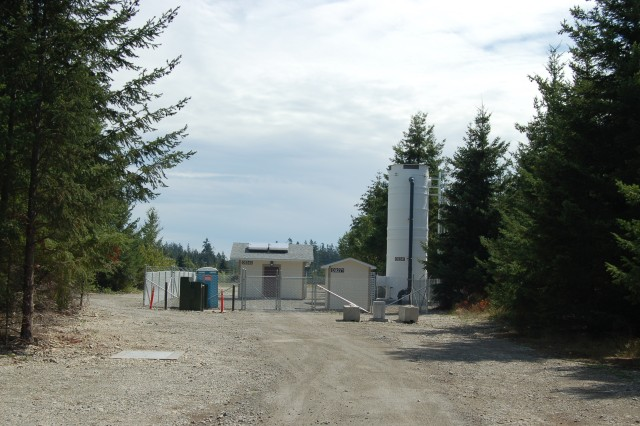 The sea level aquifer pump and treat system was built with a joint effort between JBLM and Army Medical Command. The system was repurposed to serve two needs: treat groundwater containing TCE and meet the water needs of the Madigan cooling system. This saved approximately $1 million by eliminating the need for a separate cooling system.