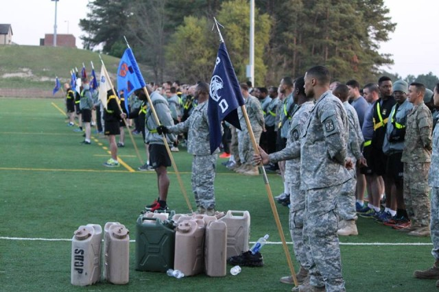 Soldiers, Airmen, and Cadets gathered during the second-ever Talon Challenge competition, at Fort Bragg's Towle Stadium, Mar. 24. The 3rd General Support Aviation Battalion of the 82nd Combat Aviation Brigade hosted the physical fitness competition.