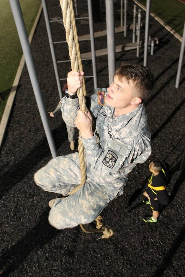 Cadet climing rope