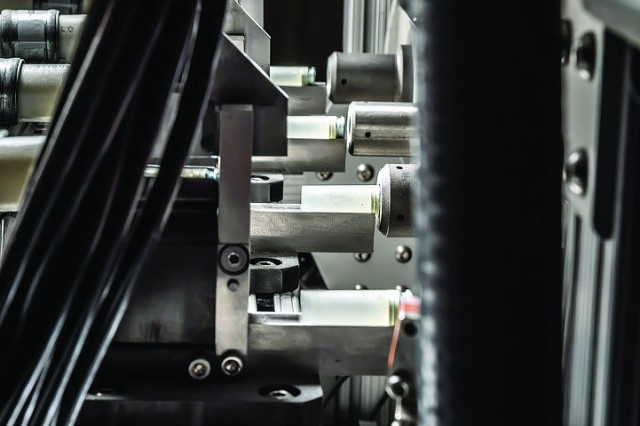 PCP Ammunition's polymer case production uses a laser welding system to permanently bond the polymer components together prior to loading on traditional loading equipment.
