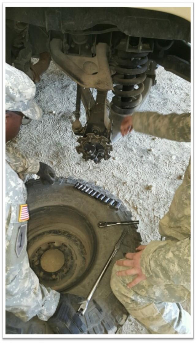 Practicing vehicle maintenance skills