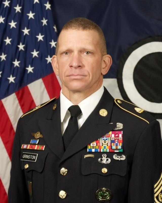 CSM Michael A. Grinston command photo