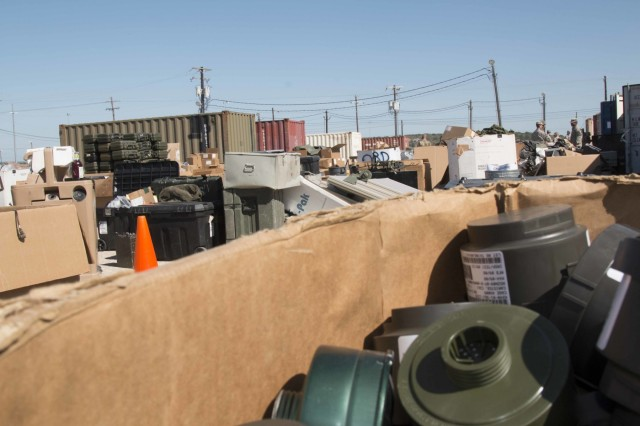 The III Corps motor pool at Fort Hood, Texas, is full of excess equipment for turn in or lateral transfer. The 3rd Armored Brigade Combat Team, 1st Cavalry Division is spearheading an Army-wide effort to do away with excess, obsolete and unserviceable equipment. This effort will establish the process that the rest of the Army will use to turn-in or laterally transfer equipment.