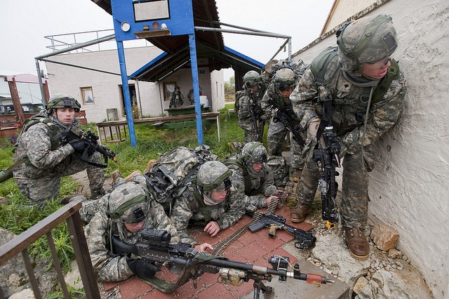 Soldiers of the 173rd Airborne Brigade Combat Team train at the Joint Multinational Readiness Center in Germany. Chief of Staff of the Army Gen. Mark A. Milley told senators, April 7, 2016, that training here and at other combat training centers is a No. 1 readiness priority for the Army.