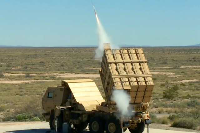 The U.S. Army successfully fired a Miniature Hit-to-Kill (MHTK) missile from its newest launch platform on April 4, 2016.  The missile was successfully fired as part of an Engineering Demonstration of the Indirect Fire Protection Capability Increment 2-Intercept (IFPC Inc 2-I)