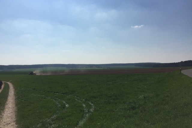 Maneuver rights areas like this one - which will be used for an airborne jump and tactical movement near Hohenfels, Germany, on April 12, 2016 - are portions of land that the German Federal Ministry of Defense authorizes NATO forces to use as temporary military maneuver and exercise areas, as part of the Supplementary Agreement to the NATO Status of Forces Agreement.