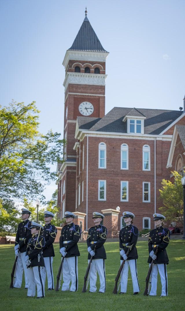 Pershing Rifles honor guard
