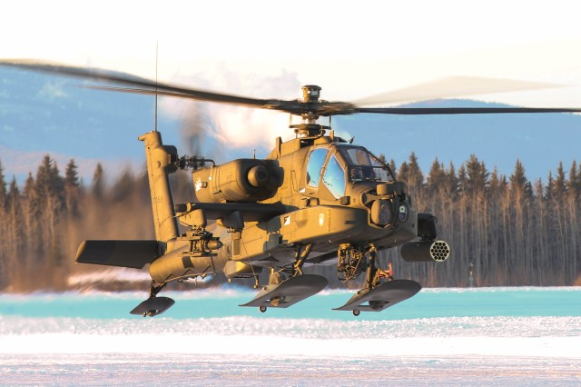 AH-64 Apache aviators from 1st Attack Reconnaissance Battalion, 25th Combat Aviation Brigade conduct pilot certification training Jan. 20, 2016, at Fort Wainwright, Alaska. The 1-25th ARB is in the process of certifying its aviators to validate the unit for potential future deployments in the Pacific and across the world.