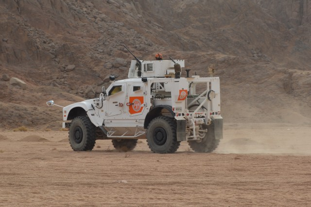 "Soldiers from Bull Troop, 1st Squadron, 2d Cavalry Regiment ""Task Force War Eagle"" conducted Operation Bull Run, a week long training exercise that ended on April 22, 2016 in Sharm el Sheikh, Egypt. The purpose of the training was to certify the Response Platoon on mounted and dismounted personnel recovery operations."