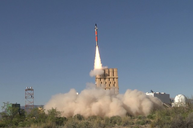 An Israeli Iron Dome Tamir missile was successfully fired from the U.S. Army's newest missile launch platform, the Indirect Fire Protection Capability Increment 2-Intercept (IFPC Inc 2-I) Multi-Mission Launcher (MML).   The missile successfully engaged and destroyed an Unmanned Aerial Vehicle (UAV) target.