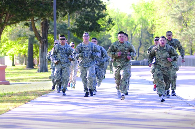 Soldiers race out of the start point -- the CASCOM Consolidated Motor Pool -- toward the Petersburg National Battlefield during the Ordnance Challenge Amazing Race April 21.