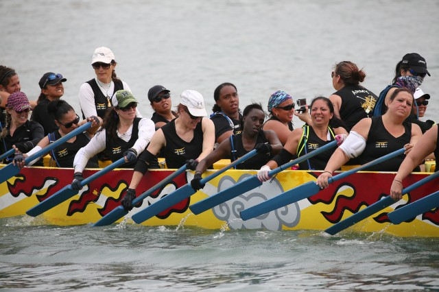 This year, a group of more than 40 dedicated women will take to the azure Okinawan water with one goal in mind -- winning. They call themselves the Army Ladies Dragon Boat Team and their mantra is 'One Boat, One Beat.'