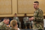 Sgt. Maj. of the Army Daniel A. Dailey, addresses U.S. Army Reserve senior leaders at the Iron Mike Conference, April 25, 2016, Fort Bragg, NC.