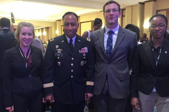 Dacie Manion (left) pictured with Gen. Dennis Via