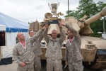 The best tank crew and winners of the 2014 Sullivan Cup display their trophy. The 2014 winners were Soldiers from 2nd Battalion, 69th Armor Regiment, 3rd Armored Brigade Combat Team, 3rd Infantry Division. The 2016 competition will be held May 1-6.