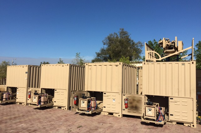 Troopers assigned to 1st Squadron, 2nd Cavalry Regiment, Task Force War Eagle are using the Containerized Weapon System, a remote-operated force protection system, seen here, at Camp North during their nine month deployment in Sinai Peninsula, Egypt. The task force is deployed to the Sinai in support of the Multinational Force and Observers (MFO). They are the 61st U.S. Army Operational Battalion or Squadron to serve in the MFO. As USBATT 61, TF War Eagle is responsible for nine remote sites, the administration of the MFO South Camp, a mobile observation team, various force protection missions, and providing special response teams.