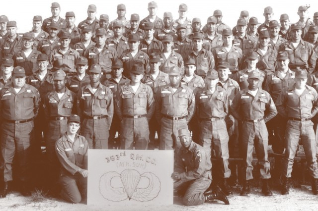 Members of the 383rd Quartermaster Detachment pose for pictures in May 1965 at Fort Lee.  The unit made its way to Vietnam a few weeks later.