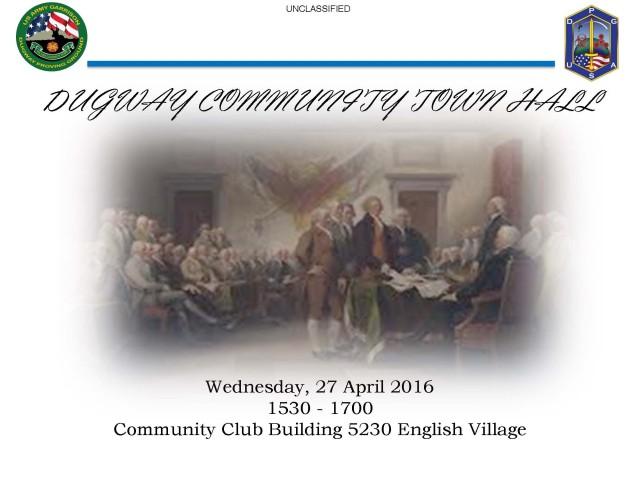 Apr 2016 Community Town Hall