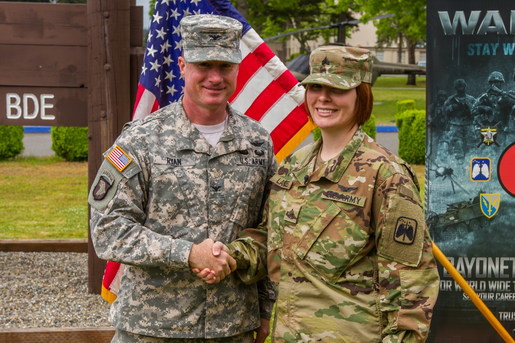 I Corps Soldier becomes first female to re-enlist as 19D | Article ...