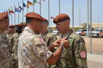 War Eagle Troopers receive Multinational Force and Observers medal