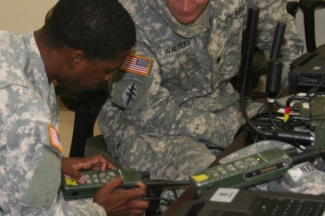 The Army is working to improve the Network Operations of the lower tactical internet (TI) radio network through the newly enhanced Joint Enterprise Network Manager (JENM), the Army's Joint radio network manager. Looking forward, the Army plans to continue efforts to further synchronize the upper TI (Warfighter Information Network-Tactical) and radio networks to better unify how they are managed and fought. To prepare for Network Integration Evaluation (NIE) 16.2, Soldiers from 2nd Brigade, 1st Armored Division trained in February with JENM. (U.S. Army photo by Amy Walker, PEO C3T Public Affairs)