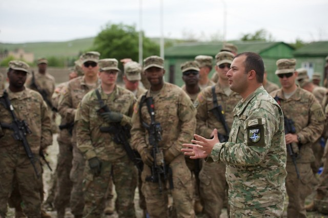 Not only are the training events that took place May 13 at Noble Partner a way to build battlefield interoperability between the Soldiers assigned to 3rd Infantry Division, the U.K. and the Georgian forces, they are an essential part of the Georgian's NATO Response Force recertification process.