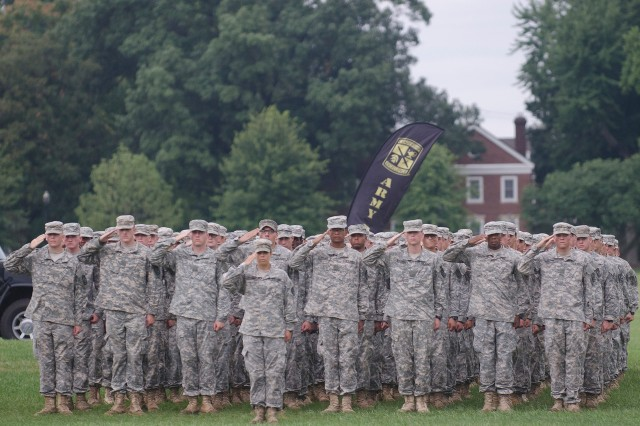 Cadets stand ready to graduate from CST 2015. (Photo by Matt Lunsford, Cadet Command Public Affairs)
