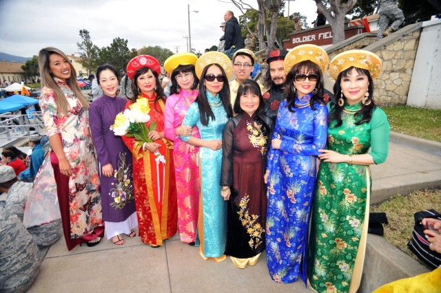 Local members of Monterey's Vietnamese community performed a wedding dance known as Dam Cuoi Nha Binh during Language Day 2016 at the Presidio of Monterey, California, May 13. Language Day is an annual open-house event that promotes and encourages cultural understanding and customs from around the world.