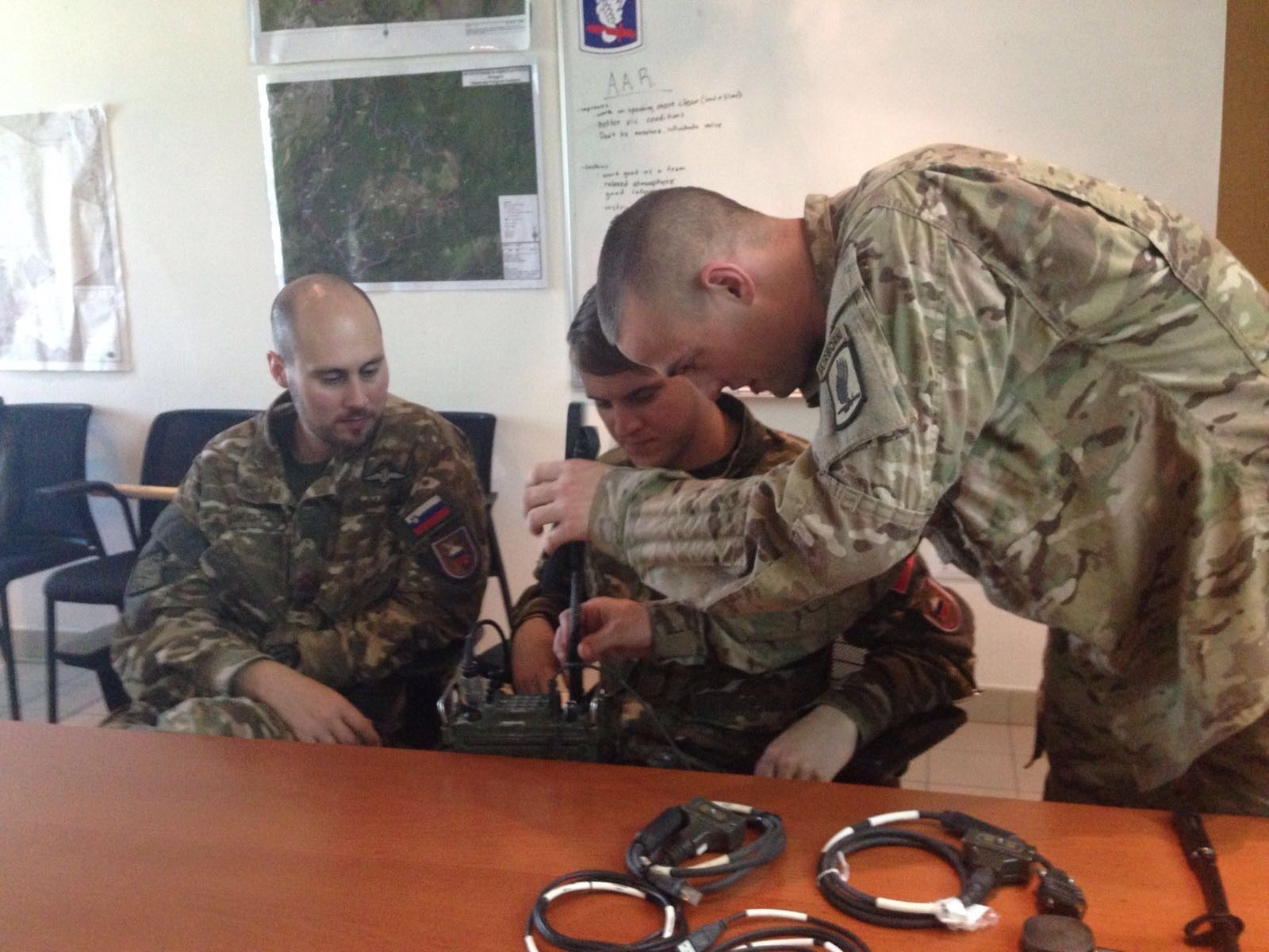 Sky Soldiers,Slovenians conduct multinational communications
