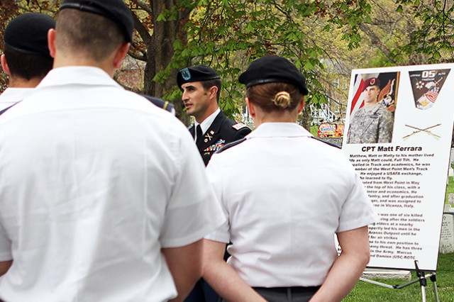 U.S. Military Academy at West Point Cadet Yearlings (sophomore) who are halfway through their education take the tour before they make their affirmation oath in August. The tour serves as a reminder to the cadets and others about those who have made the ultimate sacrifice (U.S. Army photo by Kathy Eastwood, USMA at West Point Public Affairs/released.)