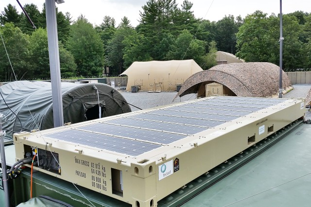 Navy Mobile Shelters : Army navy evaluating danish solar power system to save
