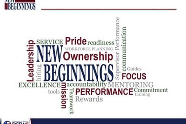 New Beginnings PowerPoint slide.
