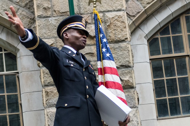Newly commissioned 2nd Lt. Alix Schoelcher Idrache, became the Maryland Army National Guard's first United States Military Academy, also known as West Point, graduate on May 21, 2016. Idrache, originally from Haiti, graduated at the top of his class in physics and will attend Army Aviation school at Fort Rucker, Ala.