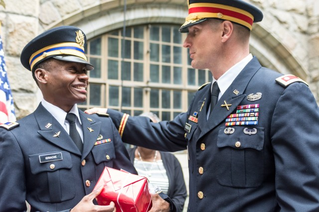 Newly commissioned 2nd Lt. Alix Schoelcher Idrache, became the Maryland Army National Guard's first United States Military Academy, also known as West Point, graduate on May 21, 2016. Idrache, originally from Haiti, graduated at the top of his class in physics and will attend Army Aviation school at Fort Rucker, Alabama.