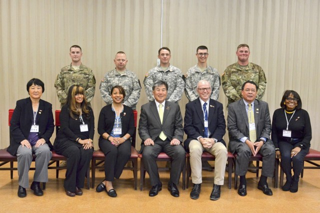 A few Soldiers deployed for nine months to South Korea got the opportunity to talk with their hometown mayor May 4. Soldiers from the 1st Armored Brigade Combat Team, 1st Cavalry Division, and natives of Michigan, shared their experiences with Southfield, Michigan, Mayor Kenson Siver, and Dongducheon City Mayor Sechang Oh, at the Thunder Inn Dining Facility at Camp Casey.